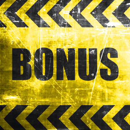 freebie: Bonus sign with smooth lines and soft highlights Stock Photo