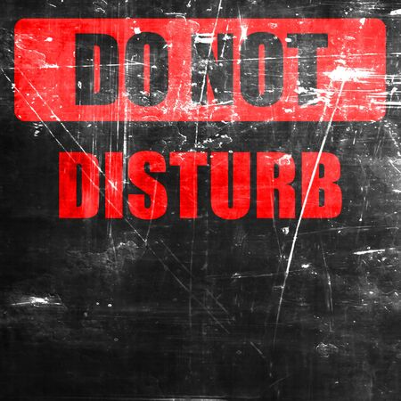 hotel room: Do not disturb sign for a hotel room