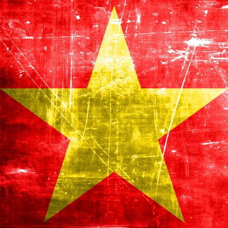 Communist sign with red and yellow vivid colors
