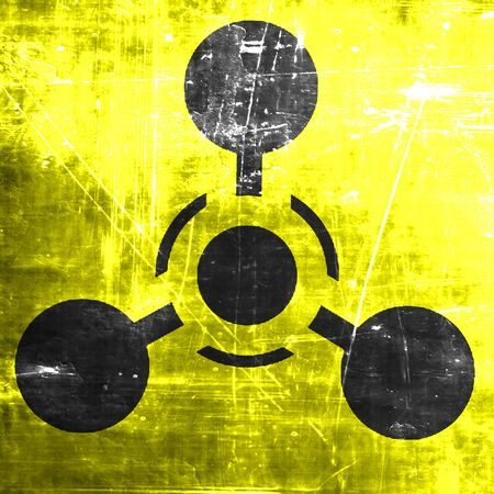 hazardous substance: Chemical weapon sign on a grunge background with some scratches