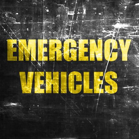 alternate: Emergency services sign with yellow and black colors