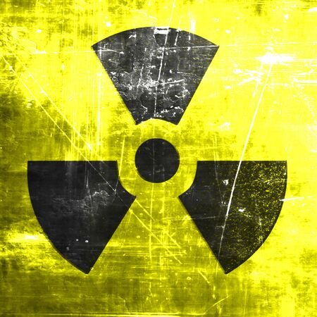 hazardous metals: Nuclear danger background on a grunge background Stock Photo
