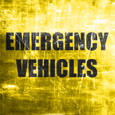 distribute: Emergency services sign with yellow and black colors