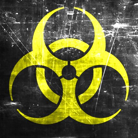 biological waste: Bio hazard sign on a grunge background Stock Photo