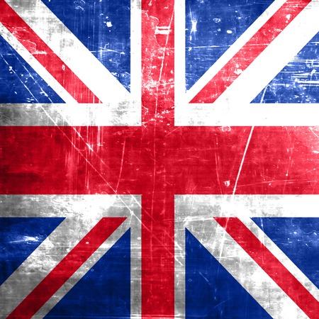 britain flag: Great britain flag with some soft highlights and folds