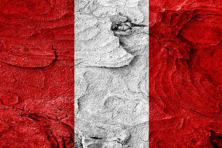 bandera de peru: bandera de Perú con algunos puntos culminantes suaves y pliegues