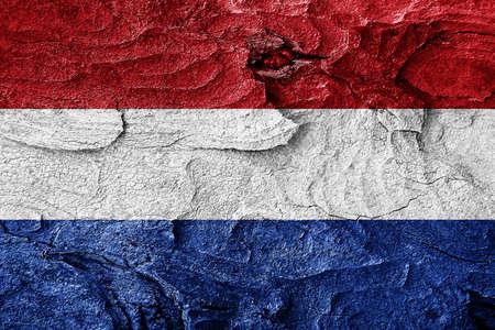 netherlands flag: Netherlands flag with some soft highlights and folds