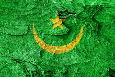 mauritania: Mauritania flag with some soft highlights and folds Stock Photo