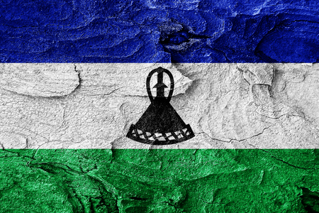 lesotho: Lesotho flag with some soft highlights and folds