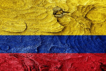 highlights: Colombia flag with some soft highlights and folds