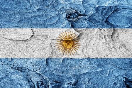 argentina flag: Argentina flag with some soft highlights and folds