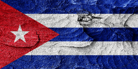 highlights: Cuba flag with some soft highlights and folds Stock Photo