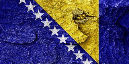 bosnia and herzegovina flag: Bosnia and Herzegovina flag with some soft highlights and folds