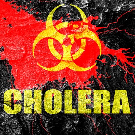 colera: El cólera concepto de fondo con unas líneas suaves suaves