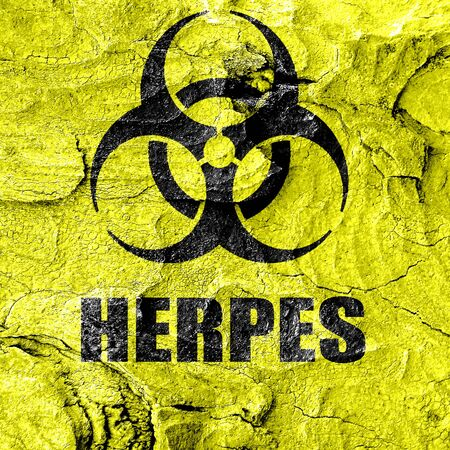 herpes: Herpes virus concept background with some soft smooth lines