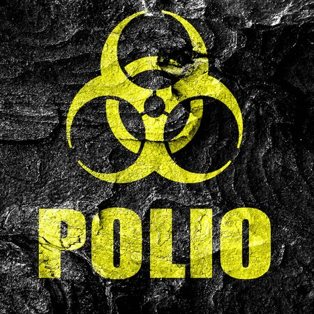 polio: Polio concept background with some soft smooth lines