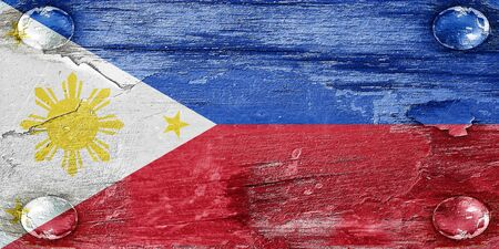 philippino: Philippines flag with some soft highlights and folds Stock Photo
