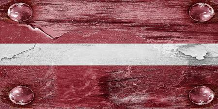 latvia flag: Latvia flag with some soft highlights and folds