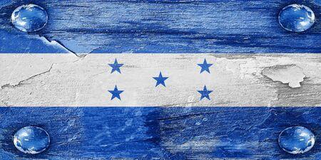 bandera honduras: bandera de Honduras con algunos toques de luz y suaves pliegues Foto de archivo