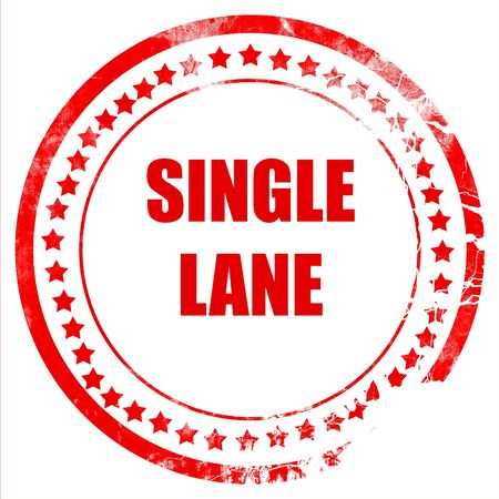 one lane street sign: Single lane sign with yellow and black colors Stock Photo