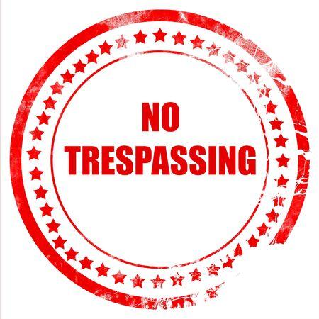 no trespassing: No trespassing sign with black and orange colors