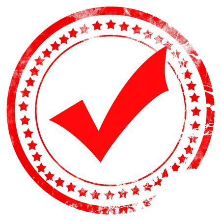 acception: Approved tick with smooth lines and vivid colors Stock Photo