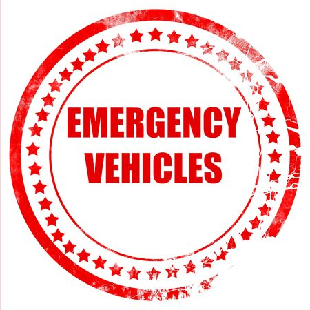 Emergency services sign with yellow and black colors