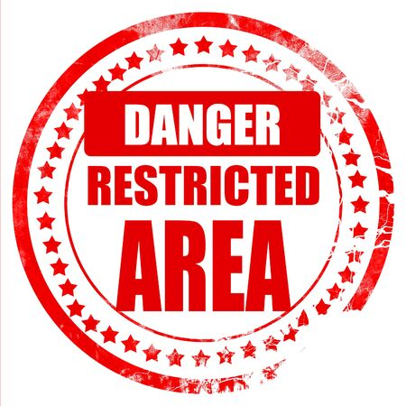 forbidden to pass: Restricted area sign with some smooth lines Stock Photo