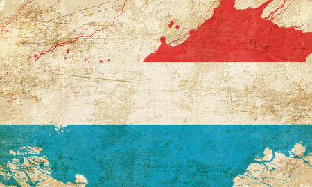 folds: Luxembourg flag with some soft highlights and folds Stock Photo
