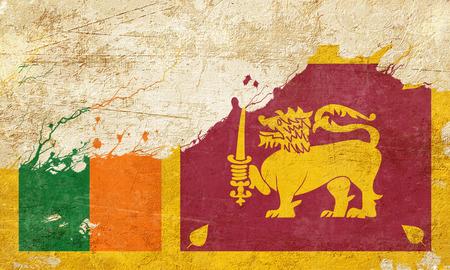 folds: Sri Lanka flag with some soft highlights and folds