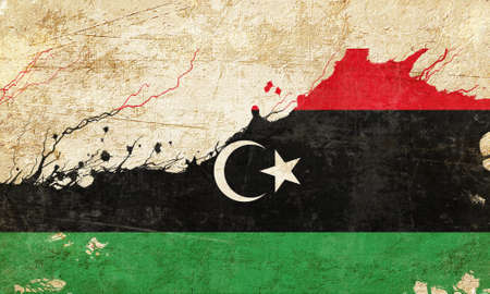 folds: Libya flag with some soft highlights and folds