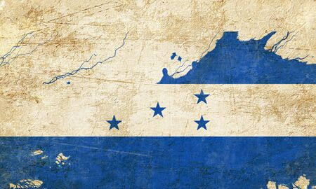 folds: Honduras flag with some soft highlights and folds