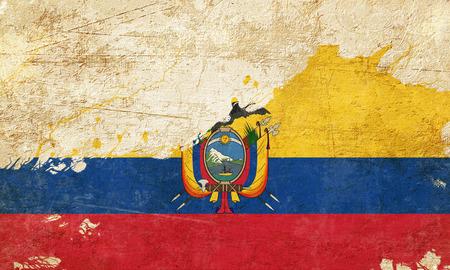 folds: Ecuador flag with some soft highlights and folds