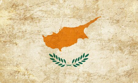 folds: Cyprus flag with some soft highlights and folds