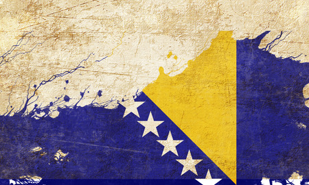 bosnia and  herzegovina: Bosnia and Herzegovina flag with some soft highlights and folds