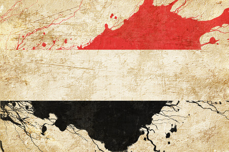folds: Yemen flag with some soft highlights and folds