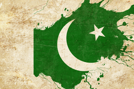 folds: Pakistan flag with some soft highlights and folds