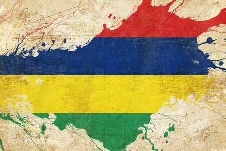 folds: Mauritius flag with some soft highlights and folds