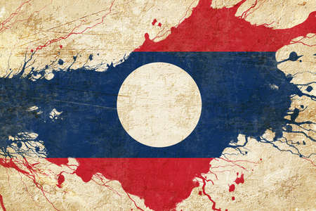 laos: Laos flag with some soft highlights and folds