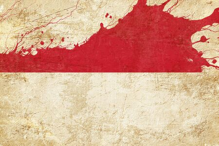 highlights: Indonesia flag with some soft highlights and folds Stock Photo