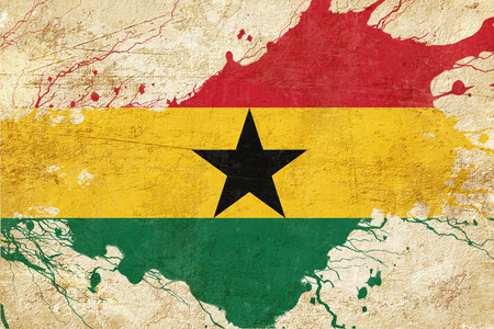ghanese: Ghana flag with some soft highlights and folds