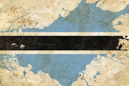 folds: Botswana flag with some soft highlights and folds