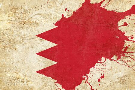 folds: Bahrain flag with some soft highlights and folds