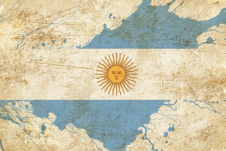 folds: Argentina flag with some soft highlights and folds