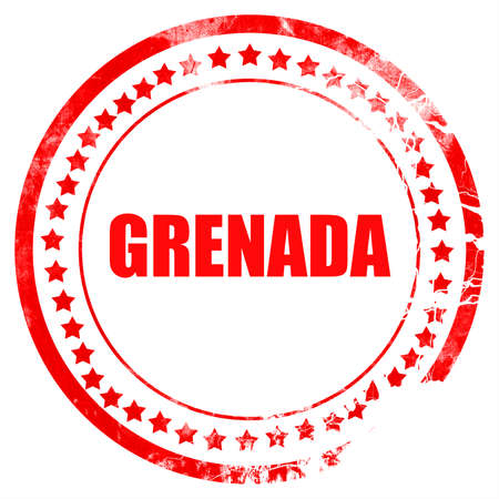 grenada: Greetings from grenada card with some soft highlights Stock Photo