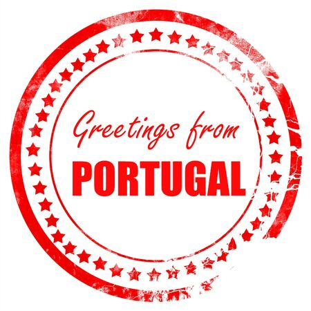 portugese: Greetings from portugal card with some soft highlights