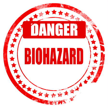 waste prevention: Biohazard sign with some smooth lines