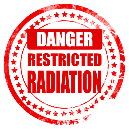 hazardous waste: Nuclear danger background on a grunge background Stock Photo