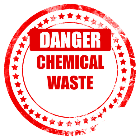 waste prevention: Chemical waste sign with some smooth lines