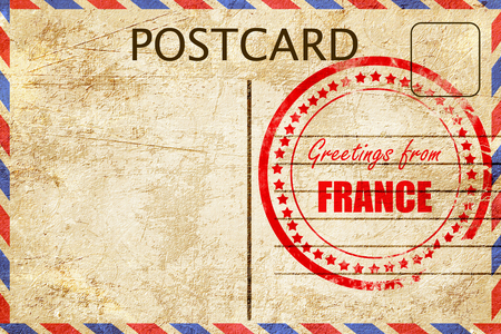 Greetings from france card with some soft highlights stock photo greetings from france card with some soft highlights stock photo 53784824 m4hsunfo
